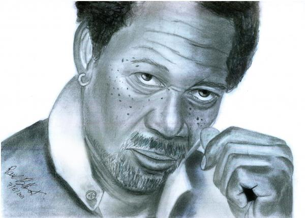 Morgan Freeman por himurapt
